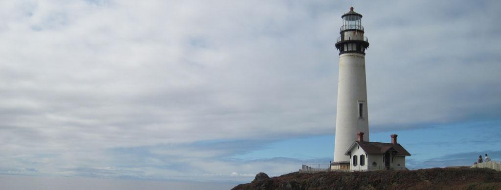 Pigeon Point Lighthouse on California Coast